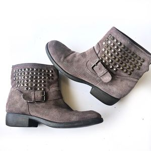 Steve Madden Outtlaww Studded Leather Moto Boots